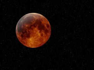 Luna Llena de Abril en Rojo